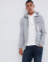 Barbour International Essential Logo Hooded Sweat In Grey