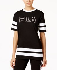 Fila Versi Oversized Logo T Shirt Black White