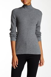 Pink Tartan Ribbed Cutout Sweater Gray