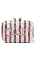 Kotur Ciao Morley Embroidered Raffia Box Clutch