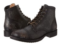 Frye Logan Cap Toe Black Polished Stonewash Cowboy Boots