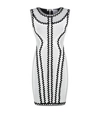Herve Leger Zigzag Bodycon Dress Female White