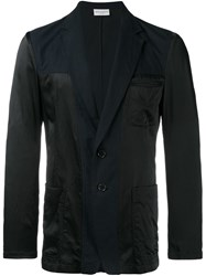 Dries Van Noten Inside Out Effect Blazer Blue