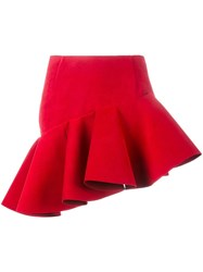 Jacquemus Asymmetric Mini Skirt Red