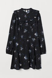 Handm H M Dress With Ruffle Black