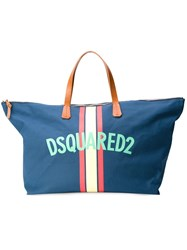 Dsquared2 Logo Weekender Tote Blue