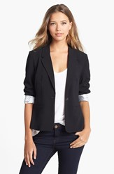 Kensie Stretch Crepe Blazer Black