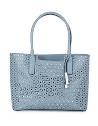 Calvin Klein Laser Cut Leather Tote Robins Egg