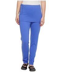 Independence Day Clothing Co Pull On Skirted Leggings Reversible Front Back Wild Blue Women's Casual Pants