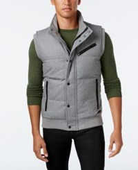 Guess Men's Carter Quilted Vest Charcoal