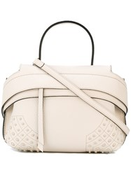 Tod's Top Cap Tote Women Leather One Size White