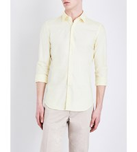 Slowear Kurt Cotton Oxford Shirt Yellow