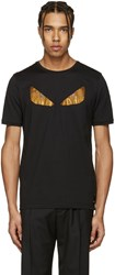 Fendi Black Crystal Bag Bug T Shirt