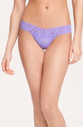 Women's Hanky Panky 'Signature Lace' Low Rise Thong Purple Electric Orchid