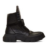 Rick Owens Black Hiking Sneaker Boots