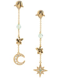 Alberta Ferretti Moon And Star Earrings Gold