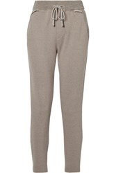 James Perse Cotton Blend Terry Track Pants Stone