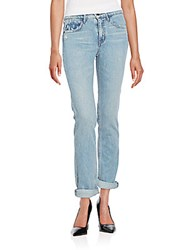 Helmut Lang Relaxed Fit Tapered Jeans Light Blue