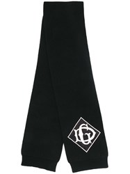 Dolce And Gabbana Branded Knitted Scarf Black