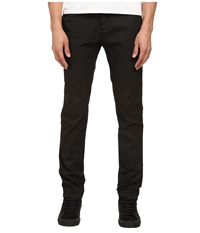Armani Jeans Garment Dyed Jean With Colored Weft In Black Grey