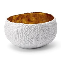 L'objet Mojave Dessert Bowl Small White And Gold