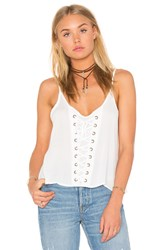 Bishop Young Lace Up Tank White