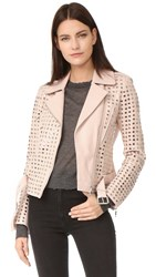Nour Hammour Schism Motorcycle Jacket Ice Pink