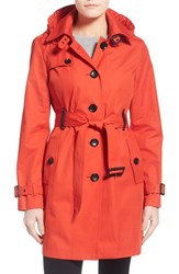 Petite Women's Michael Michael Kors Single Breasted Raincoat Grenadine