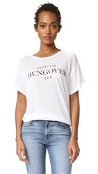 Wildfox Couture Official Hungover Tee Clean White