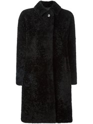 Jil Sander 'Burgau' Reversible Coat Black