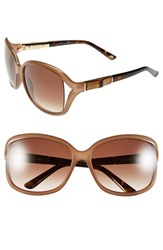 Women's Gucci 61Mm Oversized Bamboo Temple Sunglasses