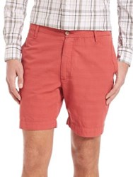 Eidos Cotton Shantung Shorts Red