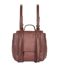 Allsaints Leather Mini Fin Backpack Red