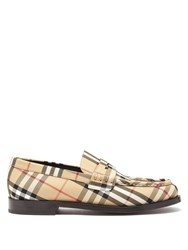 Burberry House Check Leather Loafers Multi