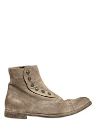 Officine Creative Vintage Suede Ghetta Cropped Boots