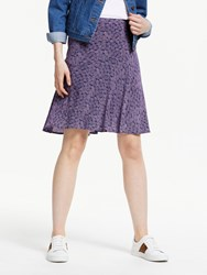 Boden Virginia Print Skirt Navy