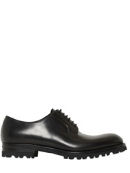 Fratelli Rossetti Pebbled And Brushed Leather Derby Shoes