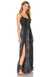 Indah Tropical Printed Jumpsuit Black