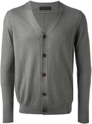 Diesel Black Gold V Neck Cardigan Grey