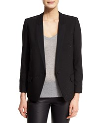 Zadig And Voltaire Valence Studded Stretch Blazer Noir