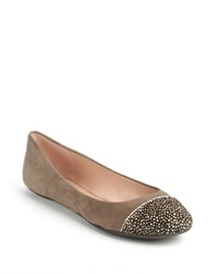 Enzo Angiolini Bealyn Suede Calf Hair Flats Brown