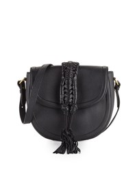 Altuzarra Ghianda Leather Saddle Bag Black