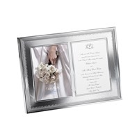Vera Wang Wedgwood Grosgrain Double Invitation Frame 5X7