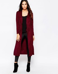 Goldie Hide Away Jacket In Suedette With Fringing Maroon