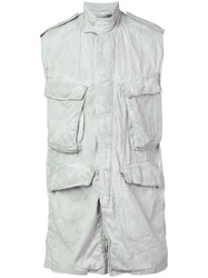 Julius Sleeveless Military Jacket Grey