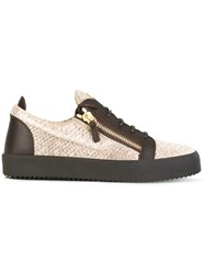 Giuseppe Zanotti Design Frankie Low Top Sneakers Nude Neutrals