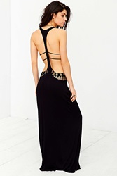 Staring At Stars Crochet Cutout Cover Up Maxi Dress Black
