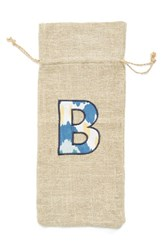 Levtex 'Initial' Personalized Wine Bag Beige