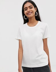 Weekday Kate T Shirt In White
