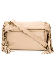 Derek Lam 10 Crosby Fringed Clutch Nude And Neutrals